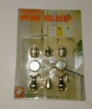Vintage 1971 Magnetic Memo Holders By Kitchen King British Hong Kong Set Of 8