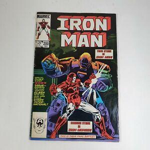 Iron Man No 200 Comic Book Double Size Tony Stark Obadiah Stane Marvel 1985