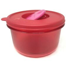 Tupperware Rock N Serve 1.5 Cup Soup Bowl Microwave Container Ruby Red #1667