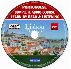 Portuguese Language Course Learn By Read & Licensing Beginners To Advance MP3 CD