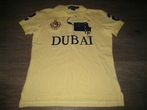 NWT NEW Ralph Lauren POLO Dubai U.A.E. Rugby Shirt. Pale Yellow. Boys XXL