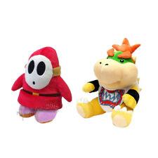 2pcs Super Mario Bros Shy Guy & Koopa Bowser Jr. Plush Doll Toy Stuffed Animal