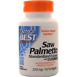 Doctor's Best Saw Palmetto Standardized Extract with Euromed (320mg)  60 sgels