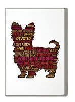 Yorkshire Terrier Art Print Word Art A4 A3 Mothers Day Gift Personalised Option