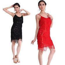 Ballroom Dance Dress  Latin Salsa Tango Tassel Sequins Skirt 6 Colors for choose