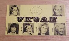 Vintage QSL card Radio VK3AH Amateur Ham shortwave Australia Australian QSO Rare