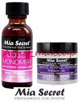 Mia Secret Acrylic Nail Powder 3D White + Liquid Monomer 1 oz Set - USA