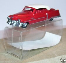 MICRO PRALINE HO 1/87 CADILLAC 54 CADDY CABRIOLET FERME ROUGE GRENAT IN BOX