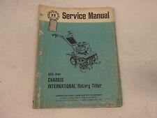 International Harvester Chassis Rotary Tiller Service Manual