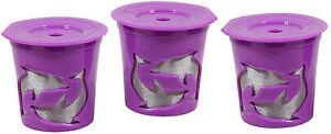NEW Keurig® 2.0 Coffee Filter Basket Reusable K-Cups Pack 3 Refillable Purple