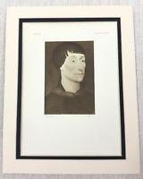 1927 Antico Stampa Rogier Van Der Weyden Dutch Vecchio Master Ritratto Pittura