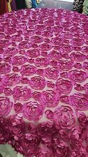 Table Overlay Mesh rose 54 X 54 inches Square Tablecloth Cover Magenta