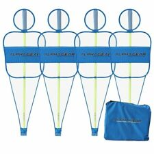 ALPHA Gear 4Pk of Defensive Mannequin Bodies BLUE - Spring Poles Included