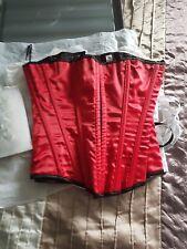 red corset basque