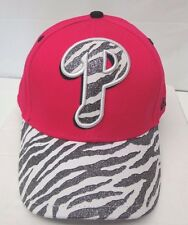 Philadelphia Phillies Girl's Youth New Era 9FORTY Wild Glitter Cap Hat