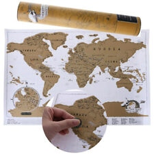 Scratch Off World Travel Map Gift Package Wall Poster Deluxe Poster Journal New