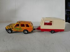 1/36 MAJORETTE DIECAST TOY RANGE ROVER   ORANGE WITH CARAVAN N MINT RARE SET