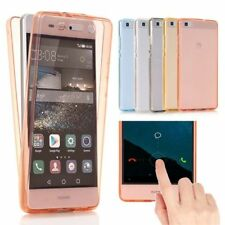 Shockproof Front Back Clear Soft TPU Phone Case Cover For Huawei P8 P9 P10 Lite