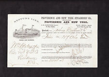 NEPTUNE LINE SHIPPING ORDER // PROVIDENCE AND NEW YORK STEAMSHIP Co. 1868
