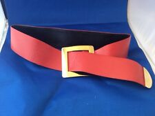 RARE Extraordinary VTG Christian Dior Orange Gold Waist Belt Ladies Belt Retro