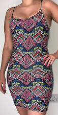 NEW LOOK AZTEC PRINT MINI FITTED BODYCON DRESS size 10