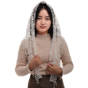 Women Church Wedding Mantilla Lace Mass Head Covering Catholic Chapel Veil