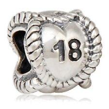 18th Birthday Charm Bead 925 Sterling Silver