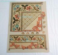 ANTIQUE 1895 TAPESTRY BERLIN NEEDLEWORK PATTERN for Handkerchief & Glove Sachet