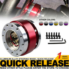 Universal Car Steering Wheel Quick Release Hub Adapter Snap Off Boss Kits Red