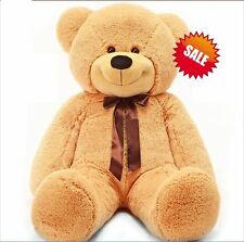 120cm Tall Giant Huge Stuffed Teddy Bears Plush Doll Great Gift Light Brown