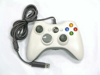 Old Skool Wired XBOX 360 & PC Dual Analog Rumble Controller - White