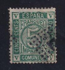 ESPAÑA 1872 5c. verde. Edifil117 USADO Cat.75 € Bonito