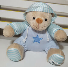 RACQ CAREFLIGHT BLUE TEDDY BEAR PLUSH TOY! SOFT TOY ABOUT 22CM SEATED KIDS TOY!