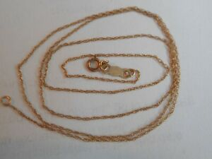 VINTAGE 10K YELLOW GOLD 18.5 INCHES FINE CHAIN/NECKLACE