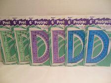 Lot Six New 6 Inch Plastic Protractor Ruler Perfect Student Homeschooling Rogers