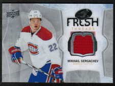 2016-17 UD Ice Fresh Threads #FTMS Mikhail Sergachev Jersey Rookie (ref 31367)