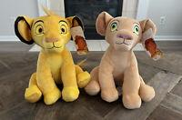 Disney Just Play Lion King 12 Inch Plush Set Simba And Nala Brand New With Tags