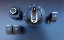 Für VW Golf 5 6 EOS Polo Chrom Fensterheber Schalter Lichtschalter Spiegel SET-