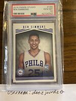 BEN SIMMONS 76ers 2016 Panini Studio #184 Graded Gem Mint PSA 10 Rookie RC