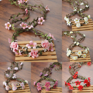 Damen Bridal Floral Hair Wreath Garland Flower Crown Headband Wedding Party