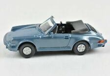 Wiking Porsche 911 C Cabriolet Convertible Blue HO 1:87 Scale