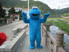 Sesame Street Blue Cookie Monster Mascot Costume Halloween Party Cosplay Suit
