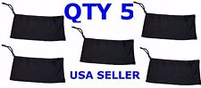QTY 5 BLACK Pouch Sleeve Bag Case for Sunglasses Eyeglasses Samsung Galaxy NEW!