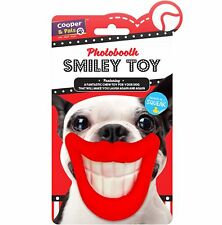 Smiley Puppy Dog Squeaky Chew Toy Novelty Mouth Gift Play Fun Toys Large Small