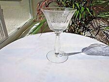 Set of 3 Fostoria Heather Pattern Crystal Liquor Cocktail Glass c 1949-1971