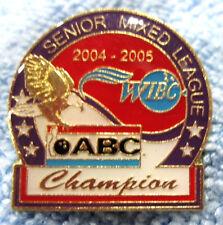 """2004-05 WIBC/ABC SR. MIXED LEAGUE CHAMPION"" METAL/ENAMEL PUSH-BACK BOWLING PIN"