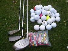 Crossgolfset Golfset 3 x Golfschläger +100 Crossgolfbälle + 50 Tees