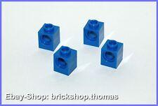 Lego Technic 4 x Lochstein blau - 6541 - Brick 1 x 1 with Hole Blue - NEU / NEW