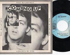 PAUL MCCARTNEY disco 45 giri COMING UP stampa  ITALIANA  made in ITALY 1980