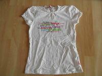 ROOM SEVEN schönes Shirt mit Druck und Spitze weiß Gr. 128 TOP  KJ1